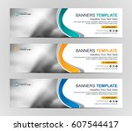 abstract web banner design... | Shutterstock .eps vector #607544417