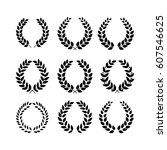 laurel wreath reward set.... | Shutterstock .eps vector #607546625
