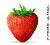 strawberry fruit close up.... | Shutterstock . vector #607558667