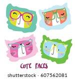 cute animal | Shutterstock .eps vector #607562081