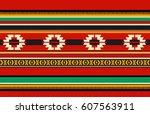 vintage traditional sadu style... | Shutterstock .eps vector #607563911