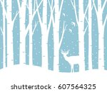 Vector Forest In Winter And A...