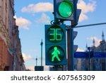 traffic light | Shutterstock . vector #607565309