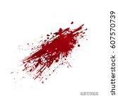 bright red splash  isolated on... | Shutterstock .eps vector #607570739