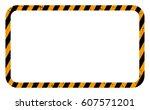 border orange and black color.... | Shutterstock .eps vector #607571201