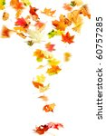 autumn leaves falling and... | Shutterstock . vector #60757285