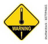 the thermometer icon  high... | Shutterstock .eps vector #607594661