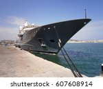 luxury yacht | Shutterstock . vector #607608914
