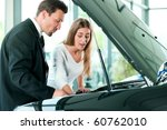 woman buying a car in... | Shutterstock . vector #60762010