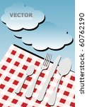 menu card background   picnic | Shutterstock .eps vector #60762190