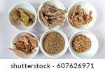Small photo of Ayurvedic Medicines 1.Venevel Atturam/Coscinium fenestratum 2.Vasambu,vekhand Calamus 3.aratta/ Alpinia hylandi 4.Red sandal wood- santalinus/rath handun 5.coriander seeds 6.Macrotyloma uniflorum