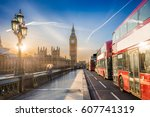 london  england   the iconic... | Shutterstock . vector #607741319