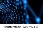 futuristic virtual technology... | Shutterstock . vector #607742111