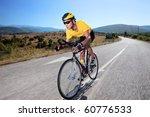 cyclist riding a bike on an... | Shutterstock . vector #60776533