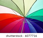 an open umbrella to show the... | Shutterstock . vector #6077716