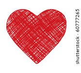 hand drawn red heart | Shutterstock .eps vector #60777265