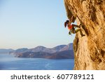 Female Rock Climber On...