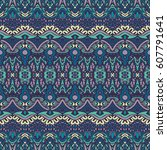 ethnic pattern for fabric.... | Shutterstock . vector #607791641