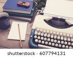 Closeup Vintage Typewriter...