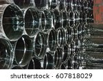 Many Lying Steel Pipes For A...
