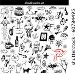 big vector set   doodle | Shutterstock .eps vector #60784495