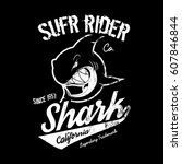 premium quality superior shark... | Shutterstock .eps vector #607846844