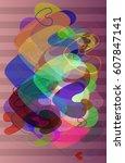 valentine pattern texture   Shutterstock .eps vector #607847141