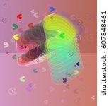 valentine template pattern   Shutterstock .eps vector #607848461