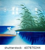 chinese traditional painting of ... | Shutterstock . vector #607870244