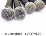 microphone  close up   Shutterstock . vector #607874504