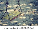 Old Swing In Playground ...