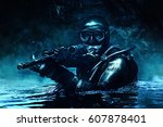 combat diver of special forces...