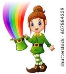 vector illustration of cartoon... | Shutterstock .eps vector #607884329