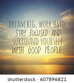 inspirational motivation quote... | Shutterstock . vector #607896821