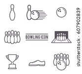 vector illustration of bowling...