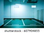 parking lot in an underground... | Shutterstock . vector #607904855