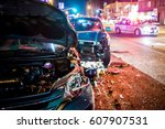 Multiple Car Crash Road Police...
