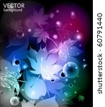 abstract background with leaves - vector - stock vector