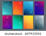 technology or modern abstract... | Shutterstock .eps vector #607915541