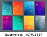 technology or modern abstract... | Shutterstock .eps vector #607915559