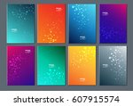 technology or modern abstract... | Shutterstock .eps vector #607915574