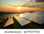 photovoltaic panels of solar... | Shutterstock . vector #607919744