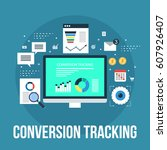 tracking conversion data for... | Shutterstock .eps vector #607926407