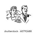 Newlyweds   Retro Clip Art
