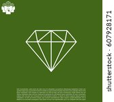 diamond icon line vector.