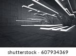 empty dark abstract concrete... | Shutterstock . vector #607934369