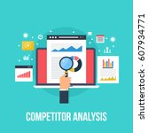 competitor data analysis ... | Shutterstock .eps vector #607934771
