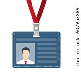 id card  badge or access card... | Shutterstock . vector #607953389
