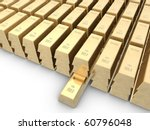 gold bars isolated on white... | Shutterstock . vector #60796048
