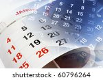 close up of calendar pages   Shutterstock . vector #60796264